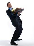 Man Portrait holding files Royalty Free Stock Photo