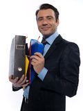 Man Portrait holding files Stock Photography