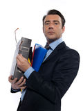 Man Portrait holding files Royalty Free Stock Photo
