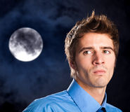 Man portrait in the night Royalty Free Stock Photos