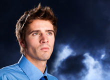 Man portrait in the night Stock Photo