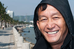 Man portrait outdoor. An asia Chinese man portrait images in outdoor Stock Image