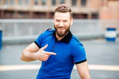 Man portrait outdoors royalty free stock images
