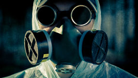 Man portrait in respirator Royalty Free Stock Photos