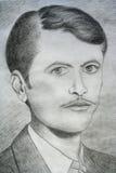 Man portrait sketch Stock Image