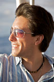 Man portrait with sunglasses Royalty Free Stock Photos