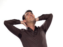Man Portrait sweat perspiring Royalty Free Stock Photo