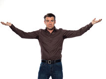 Man Portrait sweat perspiring Royalty Free Stock Image