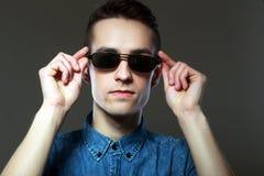 Man portrait wear sunglasses Stock Images
