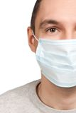 Man portrait wearing protective mask Royalty Free Stock Images