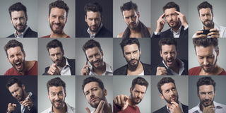 Man portraits Royalty Free Stock Photography