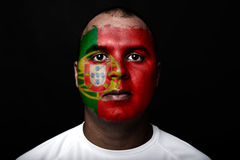 Man with Portugal flag Stock Images