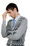 Man in the pose of a thinker Stock Image