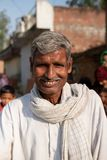 Bhadarsa, Uttar Pradesh / India - April 2, 2019: A man poses for a photo outside of his village near Bhadarsa. stock image