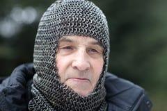 Man posing in armor Royalty Free Stock Image