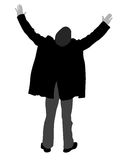 Man posing from back-side royalty free illustration