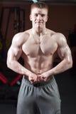 Man posing bodybuilder Stock Image