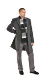 Man posing in coat Stock Photography