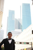 Man posing at Downtown Miami Stock Photography