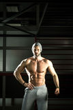 Man posing in gym Royalty Free Stock Photography