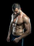 Man posing in gym Stock Photos