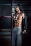 Man posing in gym Royalty Free Stock Image