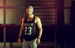 Man posing in gym Royalty Free Stock Photo