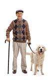 Man posing with his dog Royalty Free Stock Photography