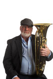 A man posing with his Euphonium Stock Photos