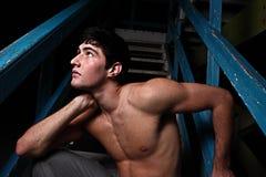 Man posing at night Royalty Free Stock Images