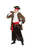Man posing in pirate costume Royalty Free Stock Images