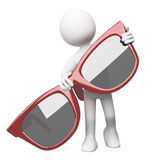 Man posing with red sunglasses Royalty Free Stock Photos
