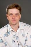 Man posing in white shirt Royalty Free Stock Photography
