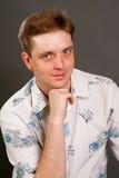 Man posing in white shirt Stock Photography