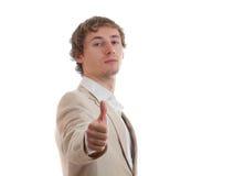 Man positive emotion. Isolated on white Stock Images