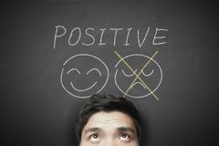Man with positive thinking Stock Images