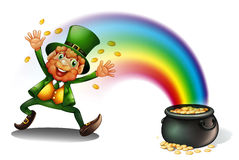 A man with a pot of golds Stock Image