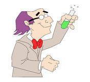 Man with potion Stock Image