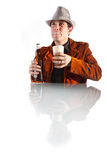 A man pouring beer Royalty Free Stock Image