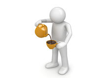 Man pouring cup Royalty Free Stock Photo
