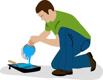 Man pouring paint Royalty Free Stock Photos