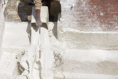Man pouring whitewash Royalty Free Stock Photo
