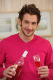 Man pouring wine in a glass Royalty Free Stock Photos