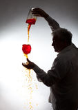Man, pouring the wine Stock Photo