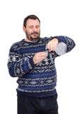 Man pours a glass of vodka Stock Photos