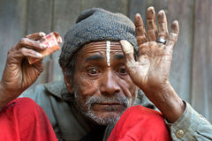 Man in poverty, Nepal Stock Photos