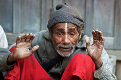 Man in poverty, Nepal Stock Images