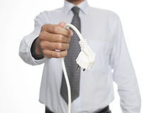 Man with power cable Stock Photography