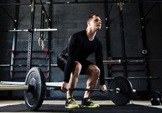 Man Power in Gym Royalty Free Stock Photos