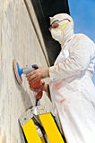 Man power sanding Royalty Free Stock Photo